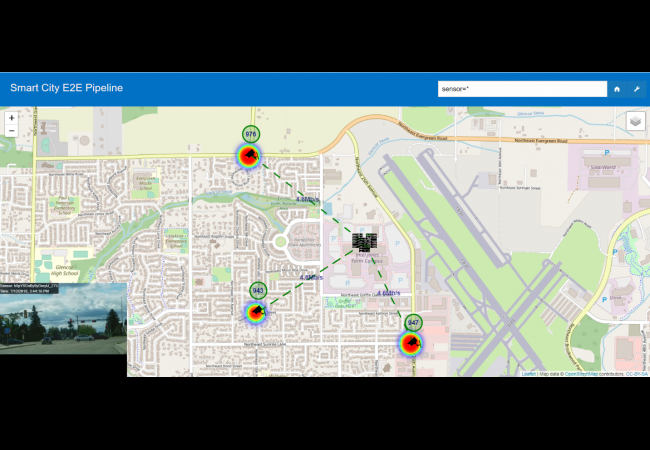 Screenshot of Smart City Traffic Management Sample