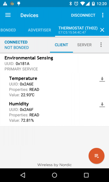 Building an OCF compliant microcontroller-based thermostat